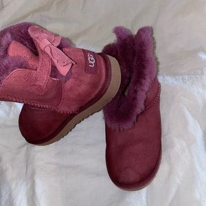 Uggs ankle bailey boots Purple sz 5